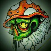 Justa_Psily_Guy-_Shroomery_Green_Skull_Mushroom_Cap.jpg