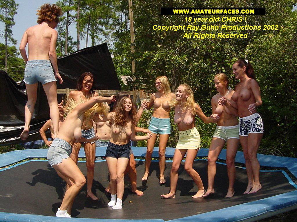 trampoline orgy